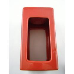 Brûle-parfum céramique carré rouge