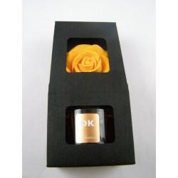 Coffret diffuseur fleur parfum thé-pamplemousse