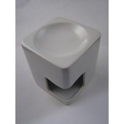 Brûle-parfum céramique carré blanc