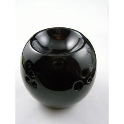 Brûle-parfum céramique boule ajourée noir