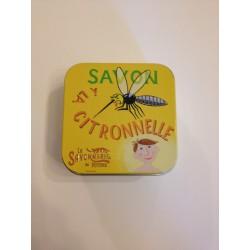 Savon boîte métal à la citronnelle 100g la savonnerie de Nyons