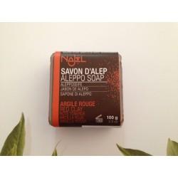 Savon d'Alep argile rouge exfoliant 100 g Najel