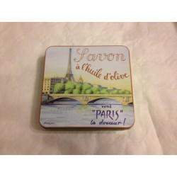 Boîte métal la Seine 4 savons de 100 g