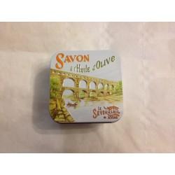Savon boîte métal les vues du sud et le pont du Gard 100 g