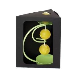 Coffret support et collier 3 bougies boules