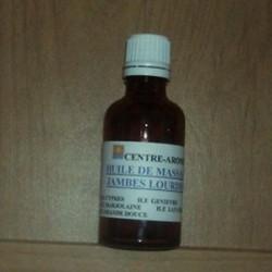 Huile de massage jambes lourdes aux huiles essentielles