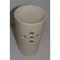 Brûle-parfum céramique gobelet blanc vue face