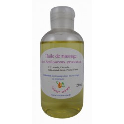 Huile de massage dos douloureux grossesse aux huiles essentielles