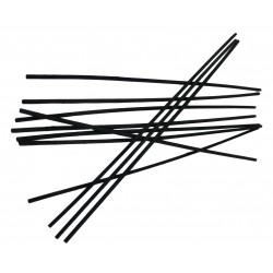 Tiges rotin noir 18 cm