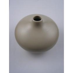 Vase ceramique beige pour diffuseur à tiges