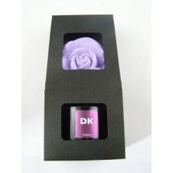 Coffret diffuseur fleur parfum tonka