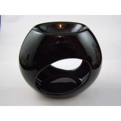 Brûle-parfum céramique galet noir