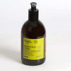 Savon d'Alep liquide certifié COSMOS ORGANIC Najel 500 ml