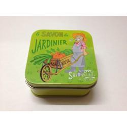 Savon boîte métal du jardinier 100g la Savonnerie de Nyons
