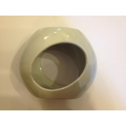Brûle-parfum céramique galet blanc cassé