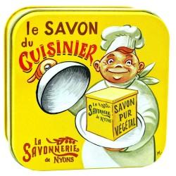 Savon boîte métal du cuisinier 100g la Savonnerie de Nyons