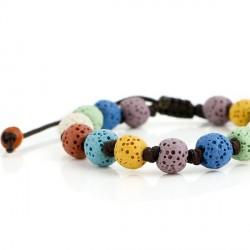 Bracelet diffuseur aromatique en perles de pierre de lave