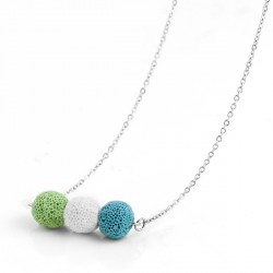 Collier diffuseur aromatique en perles de pierre de lave