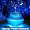 Brumisateur diffuseur transparent projecteur de couleurs