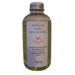 Huile de bain relaxante aux huiles essentielles