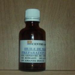 Huile de massage préparation effort aux huiles essentielles