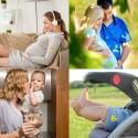 Patchs autocollants emojii anti moustiques par 6