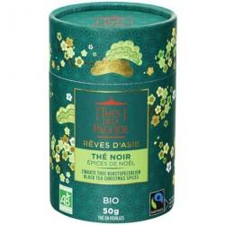 Thé noir épices de Noel BIO et Equitable canister carton Rêve d'Asie 50 g Thés de la pagode