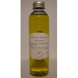 Huile de massage relaxante aux huiles essentielles