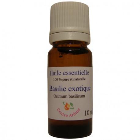 Flacon d'huile essentielle de Basilic exotique 10ml
