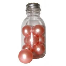 Perles de bain nacrées rose