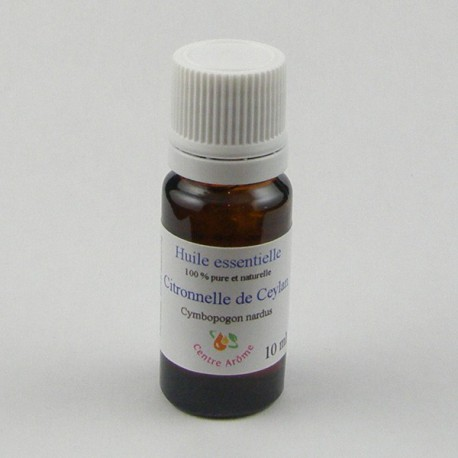 Flacon huile essentielle citronnelle de ceylan 10ml