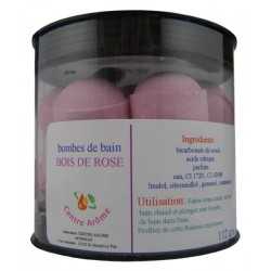 Bombes de bain parfum bois de rose