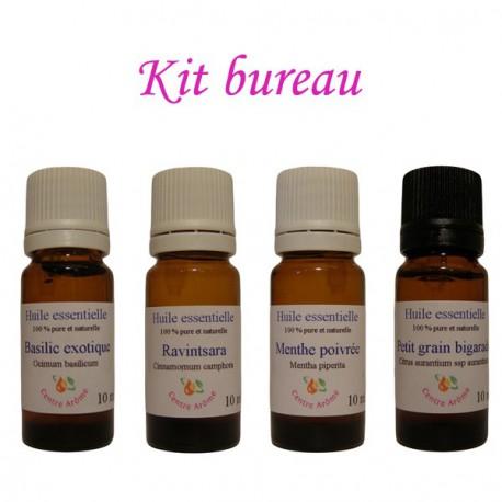 Kit d'huiles essentielles pour le bureau
