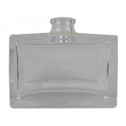 Flacon verre carré plat 50 ml
